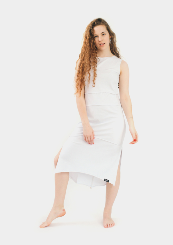 Удлиненное платье Freedom White
