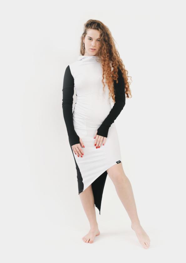 Черно-белое платье Assasin Black